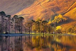 Buttermere Lake in District National Park UK